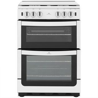 Newworld NW601GTCL 60cm Gas Cooker with Full Width Gas Grill - White - A Rated Best Price, Cheapest Prices