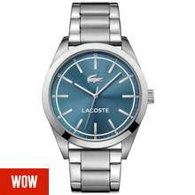 Lacoste Edmonton Men's Silver Stainless Steel Bracelet Watch Best Price, Cheapest Prices