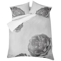 Karl Lagerfeld Pixel Rose Grey Bedding Set - Double Best Price, Cheapest Prices