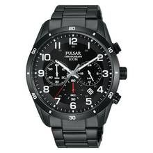 Pulsar Men's Black Stainless Steel Chronograph Watch Best Price, Cheapest Prices