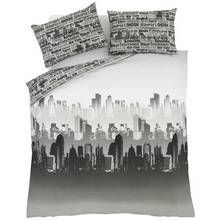 Catherine Lansfield City Scape Bedding Set - Double Best Price, Cheapest Prices