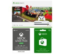 MICROSOFT Xbox One S, Forza Horizon, LEGO Speed Champions, Xbox Live £15 Gift Card & Xbox One Game Pass Bundle Best Price, Cheapest Prices