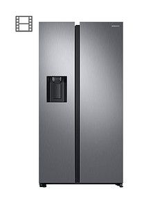 Samsung RS68N8240S9/EU American Style Frost Free Fridge Freezer with Plumbed Water, Ice Dispenser - Matt Silver Best Price, Cheapest Prices