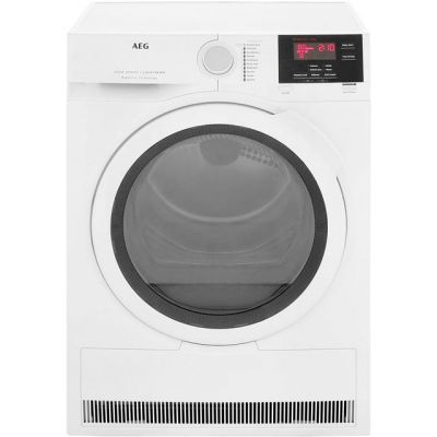 AEG ProSense Technology T6DBG821N 8Kg Condenser Tumble Dryer - White - B Rated Best Price, Cheapest Prices