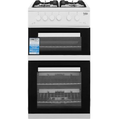 Beko KDVG592W Gas Cooker with Full Width Gas Grill - White - A+/A Rated Best Price, Cheapest Prices