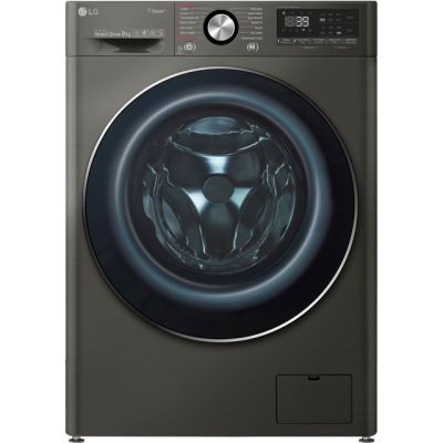 LG Vivace F4V909BTS Wifi Connected 9Kg Washing Machine with 1400 rpm - Black Steel - A+++ Rated Best Price, Cheapest Prices