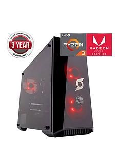 Zoostorm Stormforce Onyx AMD Ryzen 3 Processor, 8GbRAM,1TbHard Drive, Gaming PC withAMD Vega Graphics Best Price, Cheapest Prices