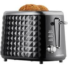 Cookworks Textured 2 Slice Toaster - Black Best Price, Cheapest Prices