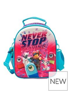 LEGO Movie Lego Movie 2 EVA Deluxe Lunchbag & Water Bottle Set - Pink Best Price, Cheapest Prices