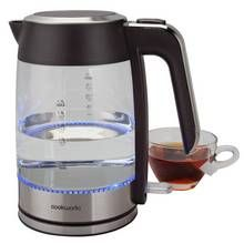 Cookworks Illuminating Kettle - Glass and Stainless Steel Best Price, Cheapest Prices