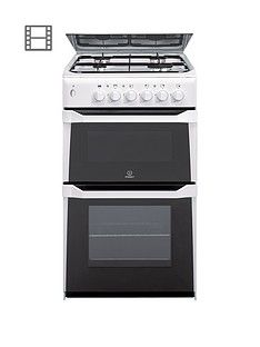 Indesit ITL50GW 50cm Twin Cavity Gas Cooker with FSD - White Best Price, Cheapest Prices
