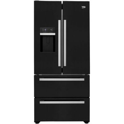 Beko GRNE60520DB American Fridge Freezer - Black - A+ Rated Best Price, Cheapest Prices