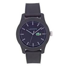Lacoste 12.12 Men's Black Silicone Strap Watch Best Price, Cheapest Prices