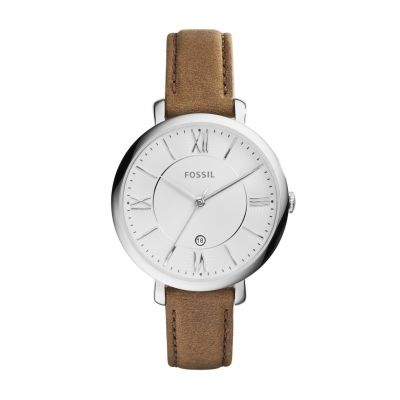 Fossil Ladies Jacqueline Brown Leather Strap Watch Best Price, Cheapest Prices