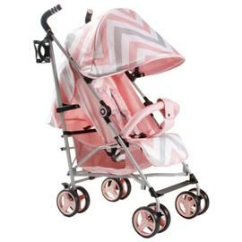 My Babiie MB02 Chevron Stroller - Pink Best Price, Cheapest Prices
