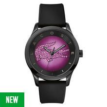 Lacoste Ladies' Valencia Black and Purple Dial Strap Watch Best Price, Cheapest Prices