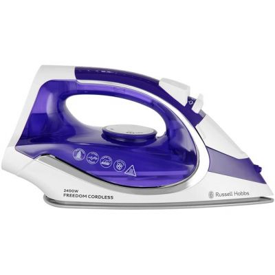Russell Hobbs Freedom Cordless 23300 2400 Watt Iron -Purple / White Best Price, Cheapest Prices