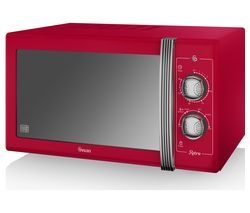 SWAN Retro SM22070RN Solo Microwave - Red Best Price, Cheapest Prices