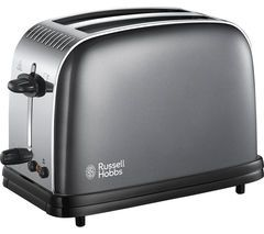 RUSSELL HOBBS Colours Plus 23332 2-Slice Toaster - Grey Best Price, Cheapest Prices