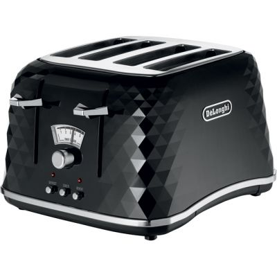 De'Longhi Brilliante CTJ4003.BK 4 Slice Toaster - Black Best Price, Cheapest Prices
