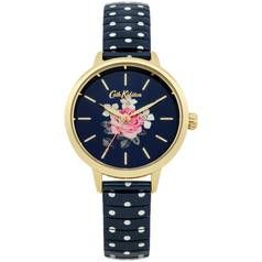 Cath Kidston Ladies Navy Polka Dot Expander Bracelet Watch Best Price, Cheapest Prices