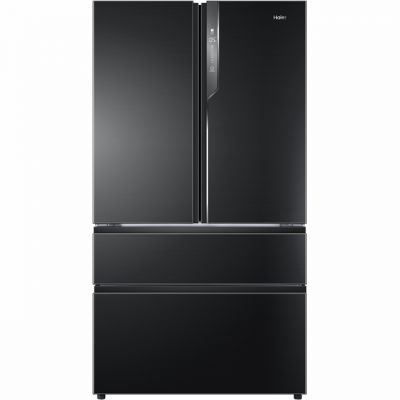 Haier HB25FNSAAA American Fridge Freezer - Black / Stainless Steel - A++ Rated Best Price, Cheapest Prices