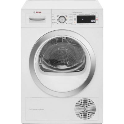 Bosch Serie 8 WTW87560GB 9Kg Heat Pump Tumble Dryer - White - A++ Rated Best Price, Cheapest Prices