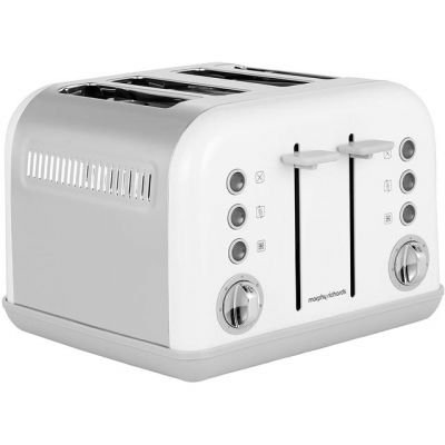 Morphy Richards Accents 242032 4 Slice Toaster - White Best Price, Cheapest Prices