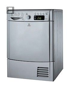 Indesit Ecotime IDCE8450BSH 8kg Load Condenser Sensor Dryer - Silver Best Price, Cheapest Prices