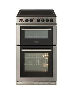 Belling FS50EDOPC 50cm Double Oven Electric Ceramic Cooker with Optional Connection - Stainless Steel Best Price, Cheapest Prices