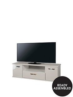 SWIFT Neptune Ready Assembled Grey High Gloss TV Unit - fits up to 65 inch TV Best Price, Cheapest Prices