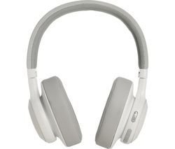 JBL E55BT Wireless Bluetooth Headphones - White Best Price, Cheapest Prices