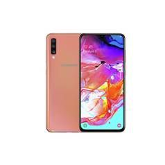 SIM Free Samsung A70 128GB Mobile Phone - Coral Best Price, Cheapest Prices