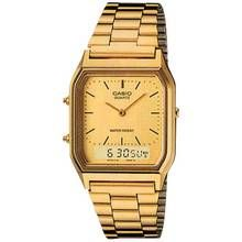 Casio Men's Gold Stainless Steel Bracelet Dual Time Watch Best Price, Cheapest Prices