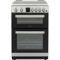 Belling FSG608DMc 60cm Double Oven Gas Cooker - Silver Best Price, Cheapest Prices
