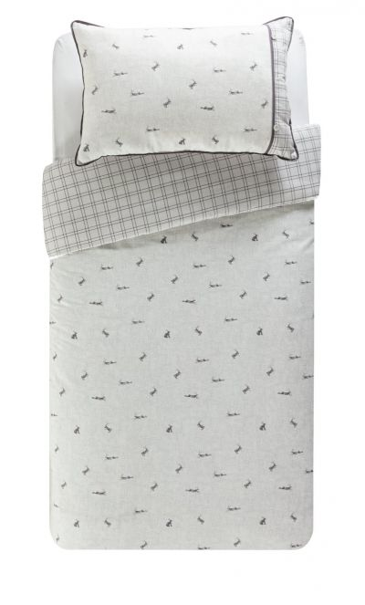 Argos Home Leaping Hare Bedding Set - Single Best Price, Cheapest Prices
