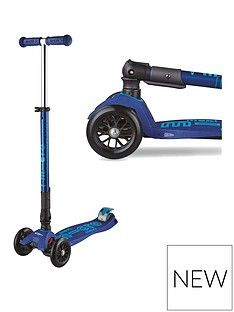 Micro Scooter Deluxe Foldable Maxi Navy Best Price, Cheapest Prices