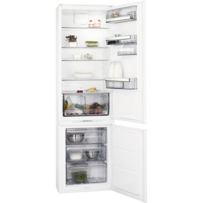 AEG SCE8191VTS Integrated 70/30 Frost Free Fridge Freezer with Sliding Door Fixing Kit - White - A+ Rated Best Price, Cheapest Prices