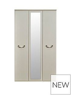 SWIFT Broadway Ready Assembled 3 Door Mirrored Wardrobe Best Price, Cheapest Prices