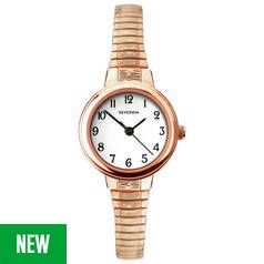 Sekonda White Dial Ladies Rose Gold Plated Strap Watch Best Price, Cheapest Prices