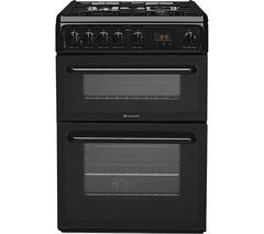 HOTPOINT HAG60K 60 cm Gas Cooker - Black Best Price, Cheapest Prices