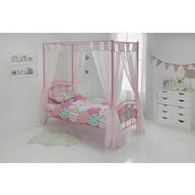 Argos Home Hearts Pink Single 4 Poster Bed & Kids Mattress Best Price, Cheapest Prices