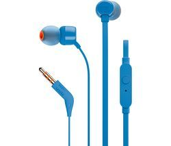 JBL T110 Headphones - Blue Best Price, Cheapest Prices