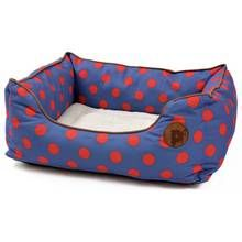 Petface Blue Spots Square Bed - Medium Best Price, Cheapest Prices