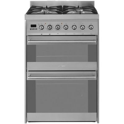 Smeg Symphony SY62MX8 60cm Dual Fuel Cooker - Stainless Steel - A/A Rated Best Price, Cheapest Prices