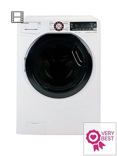 Hoover Dynamic ExtremeDWFT412AH312kgLoad, 1400 Spin Washing Machine with One-Fi Extra - White/Tinted Best Price, Cheapest Prices
