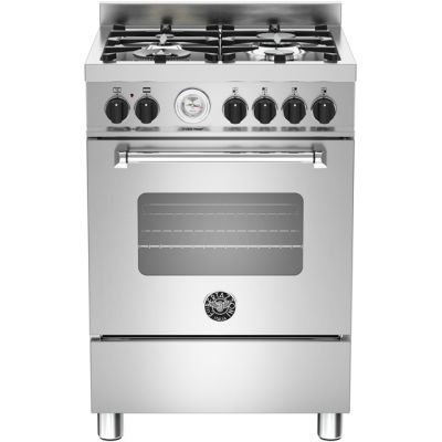 Bertazzoni Master Series MAS60-4-MFE-S-XE 60cm Dual Fuel Cooker - Stainless Steel - A Rated Best Price, Cheapest Prices