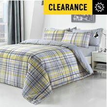 Pieridae Yellow Checked Bedding Set - Kingsize Best Price, Cheapest Prices