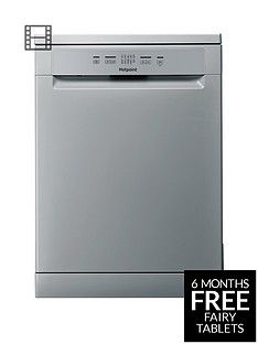Hotpoint Aquarius HFC2B19SV 13-Place Full Size Dishwasher - Silver/Grey Best Price, Cheapest Prices