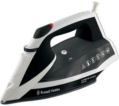 RUSSELL HOBBS Supremesteam 23052 Steam Iron - White & Black Best Price, Cheapest Prices
